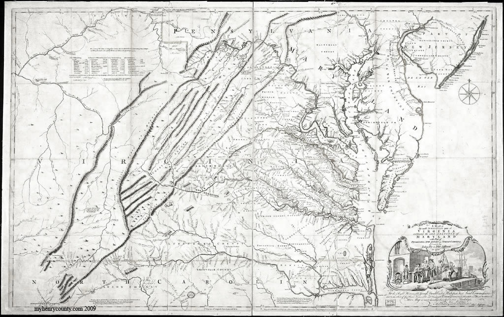 Fry Jefferson Map of 1751